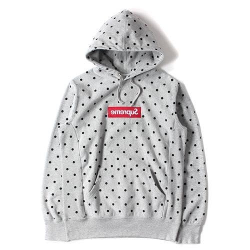 SUPREME 12ss ×COMME des GARCONS SHIRTS BOXロゴスウェットパーカー
